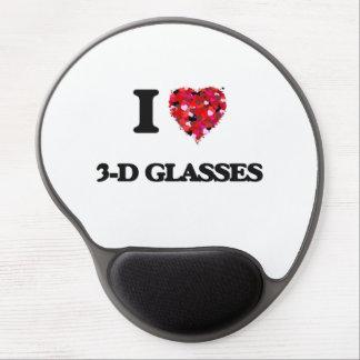 I love 3-D Glasses Gel Mouse Pad