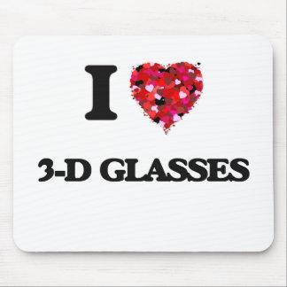 I love 3-D Glasses Mouse Pad