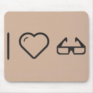 I Love 3d Glasses Mouse Pad