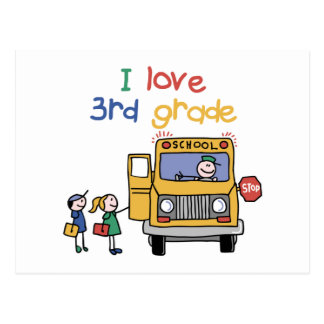 I Love 3rd Grade Postcard