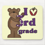 I Love 3rd Grade Tshirts and Gifts Mouse Pad