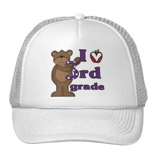 I Love 3rd Grade Tshirts and Gifts Trucker Hat