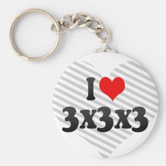 I love 3x3x3 key chain