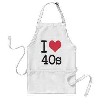 I Love 40s Products & Designs! Apron