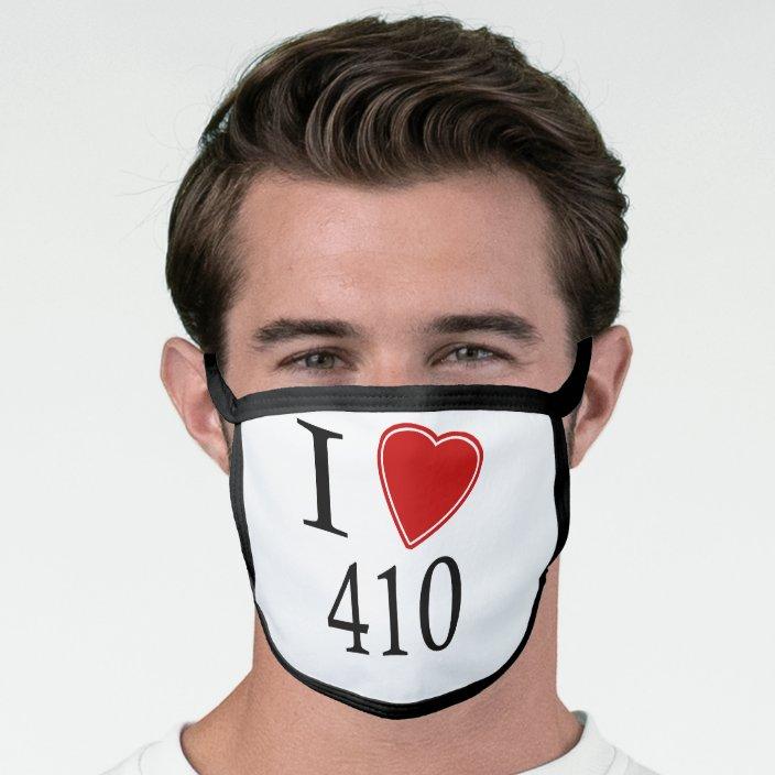 I Love 410 Annapolis Face Mask