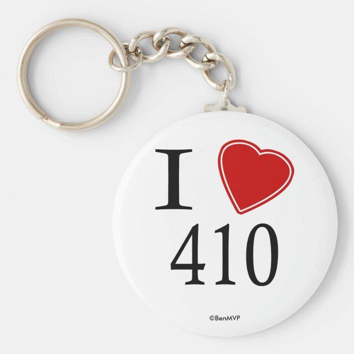 I Love 410 Annapolis Key Chain