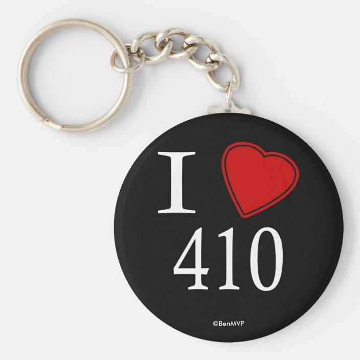 I Love 410 Annapolis Keychain