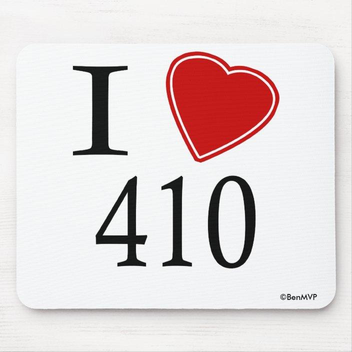 I Love 410 Annapolis Mouse Pad