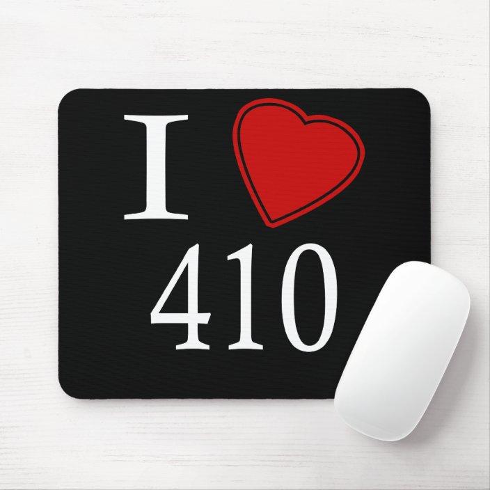 I Love 410 Annapolis Mousepad