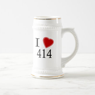 I Love 414 Milwaukee 18 Oz Beer Stein