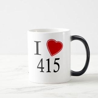I Love 415 San Francisco 11 Oz Magic Heat Color-Changing Coffee Mug