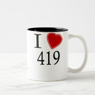 I Love 419 Toledo Two-Tone Coffee Mug