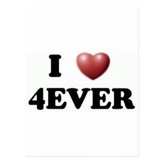 I Love 4EVER Postcards