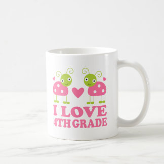 I Love 4th Grade Ladybug Classic White Coffee Mug