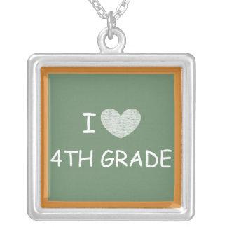 I Love 4th Grade Necklace