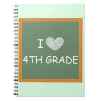 I Love 4th Grade Notebook