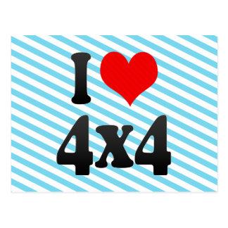 I love 4x4 post card