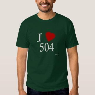 I Love 504 New Orleans Shirt