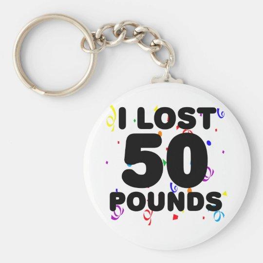 I Love 50 Pounds Party Keychain