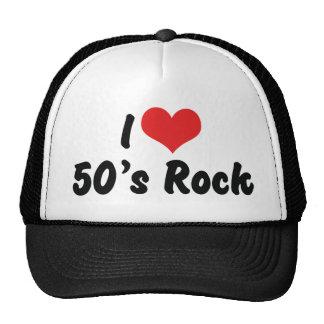 I Love 50's Rock Music Trucker Hat