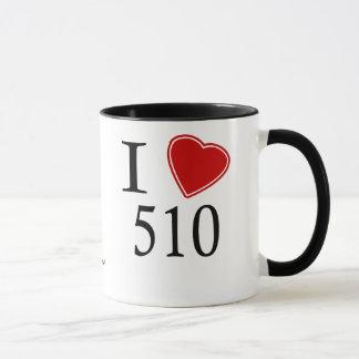 I Love 510 Newark Mug