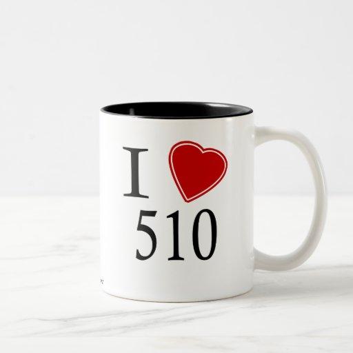I Love 510 Oakland Mug