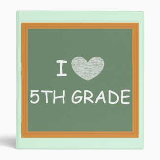 I Love 5th Grade 3 Ring Binder