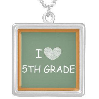 I Love 5th Grade Necklace