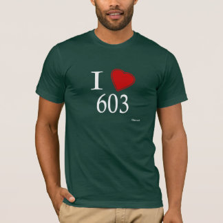 I Love 603 Concord T-Shirt