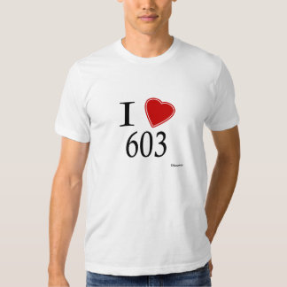 I Love 603 Concord T Shirt