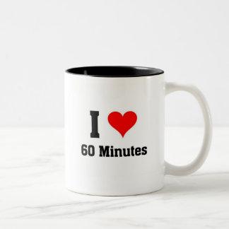 I love 60 minutes Two-Tone coffee mug