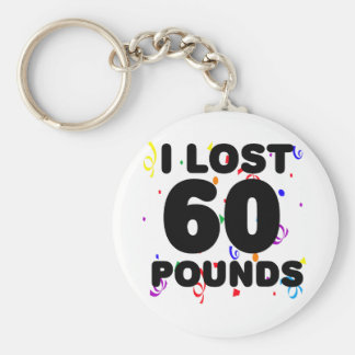 I Love 60 Pounds Party Keychain