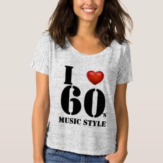 I love 60's Music style/ T-shirts, apparel prints T-Shirt