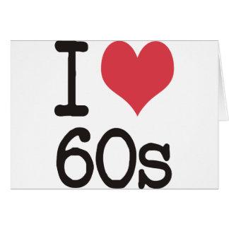 I Love 60s Vintage & Retro Designs! Card