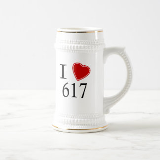 I Love 617 Boston Beer Stein