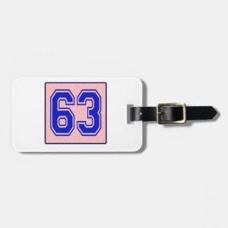 I love 63 luggage tags