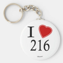 I Love 216 Cleveland Key Chain