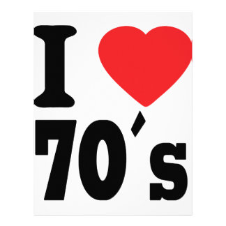 I Love 70 ´s Personalized Letterhead