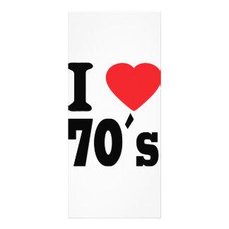 I Love 70 ´s Rack Card Template