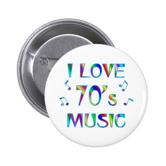 I Love 70's Buttons