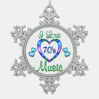 I Love 70s Music Ornaments