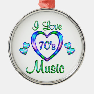I Love 70s Music Christmas Ornament