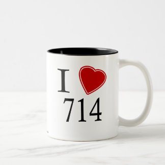 I Love 714 Santa Ana Two-Tone Coffee Mug