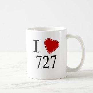 I Love 727 St. Petersburg Classic White Coffee Mug