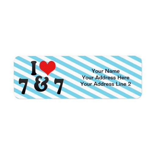 I Love 7 & 7 Return Address Labels