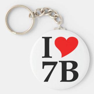 I love 7B Keychain