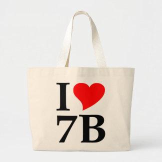 I love 7B Large Tote Bag