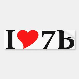 I love 7B long Bumper Sticker