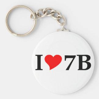 I love 7B long Keychain