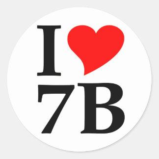 I love 7B Stickers